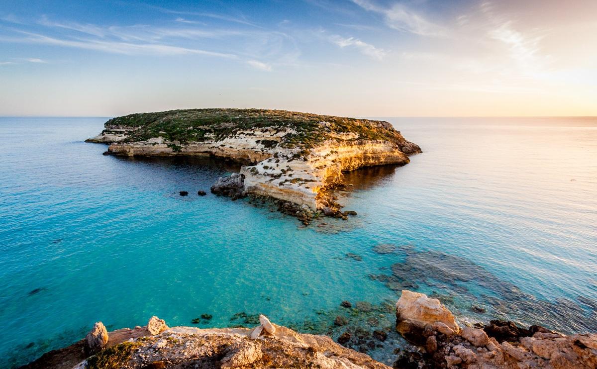 Isola dei conigli in Lampedusa island